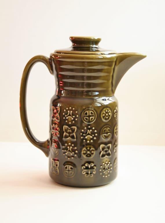 Vintage Ceramic Glazed Pitcher Teapot Lord Nelson Pottery Made