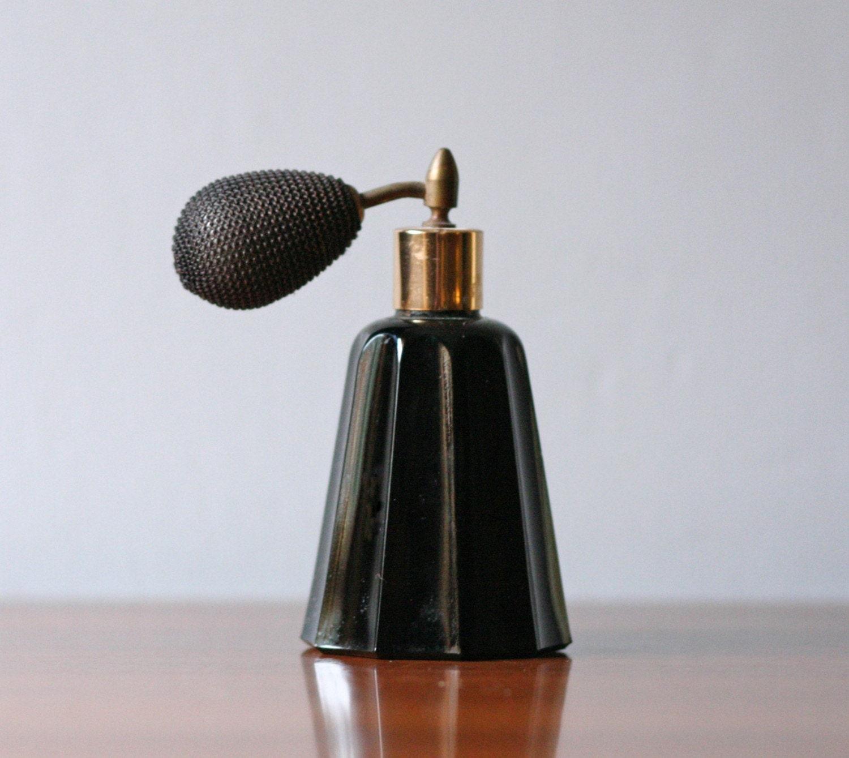 vintage midnight black perfume atomizer bottle 3