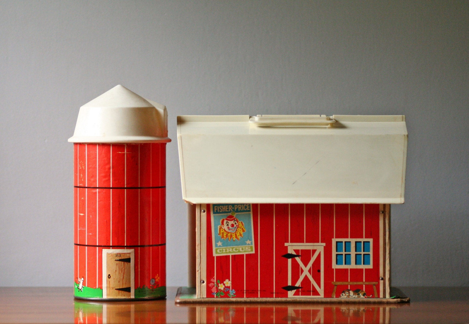 vintage Fisher Price family farm toys 1960s