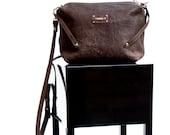 AKI -Italian Leather purse with zip.Aged effect.AMAI  Handmade bag