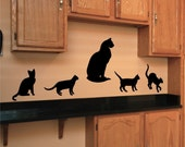 Wall Decal Cats Vinyl Wall Art Stickers