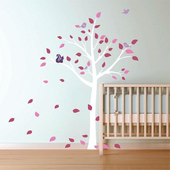 Spring Tree Wall Decor : Items similar to spring tree vinyl wall decal nursery