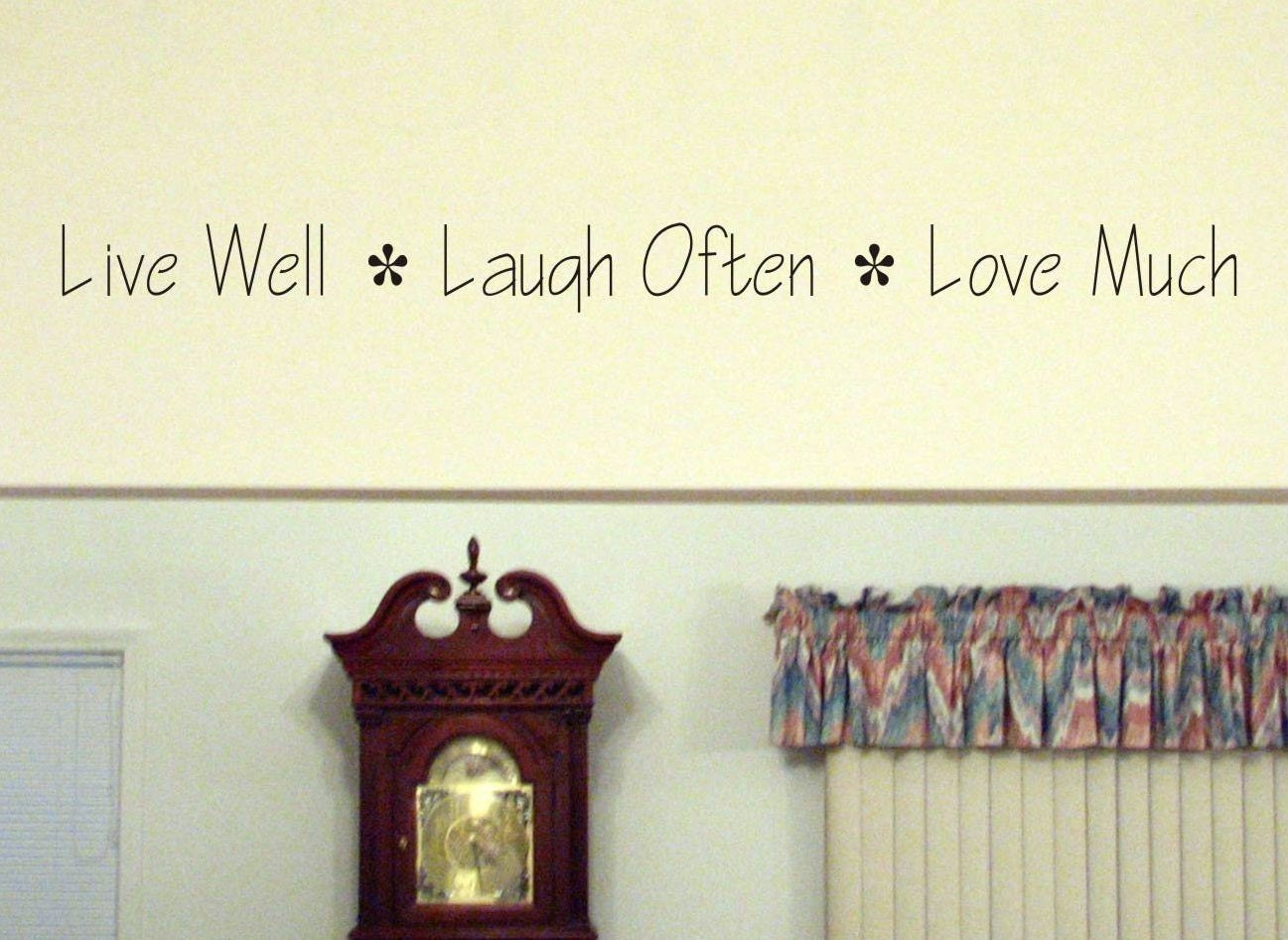 live well laugh often love much wall by chuckebyrdwalldecals. Black Bedroom Furniture Sets. Home Design Ideas
