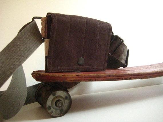 Belt Waist Utility Bag a modern fanny pack in Vegan Rural Rustic Repurposed
