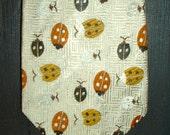 Men's Vintage Tie w ladybug patterned fabric - Unique - 1960's