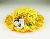 Easter Bonnet Crochet Baby Toddler Hat Digital Download PDF Crochet Pattern