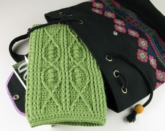 Crochet Pattern Kindle Fire Cover Pattern Cable Fish - Digital Download PDF Crochet Pattern