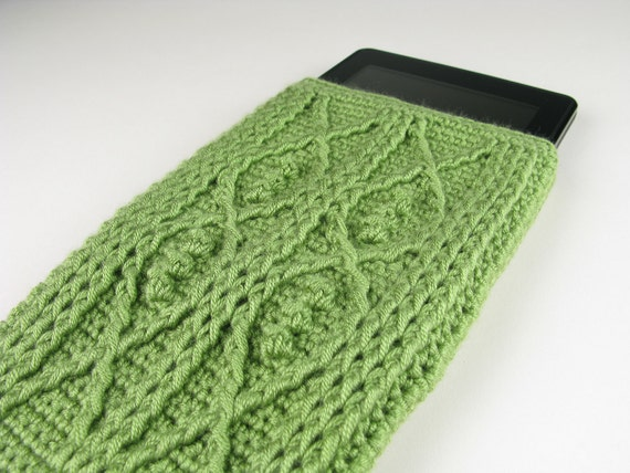 Crochet Pattern Kindle Fire Cover Crochet Cable Fish Digital
