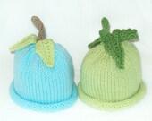 Baby Boy Best Friends Twin Pack Knit Fruit Vegetable Hats for Newborn Infant Boys