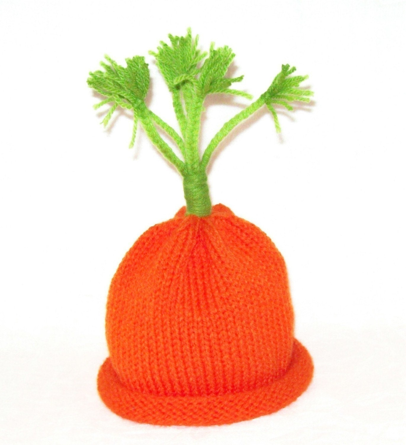 Carrot Top Cutie Knit Vegetable Hat Sized To Fit Young Infants
