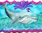 Whale Out to Sea 8x10 Fine Art Print