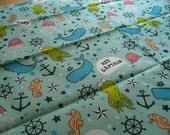 Aquatic / Ahoy Matey 17x21 Fat Quarter Cotton Fabric