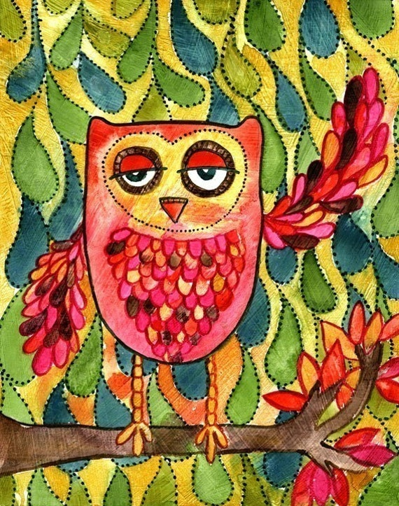 Woodland Owl, Everything's a Hoot 8x10 Fine Art Print