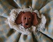 Prim Pets Doggie Flower Brooch