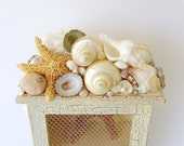Cabinet Box Seashells Shabby Cottage Keepsake