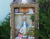 VINTAGE VIRGIN MARY MERMAID SHRINE RELIGIOUS GROTTO ASSEMBLAGE