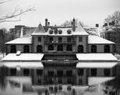 Weld Boathouse -- Harvard  5  x 7 inch black and white photograph