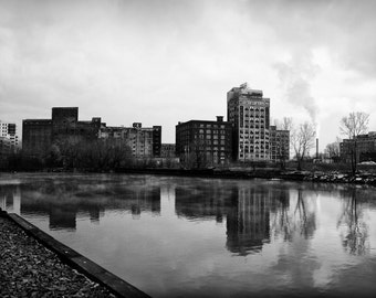 Industrial Milwaukee - black and white photograph