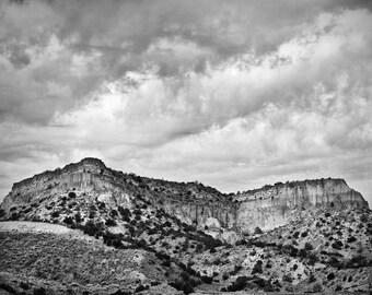 Landscape Near Santa Fe New Mexico 8.5 x 11 inch black and white landscape photo