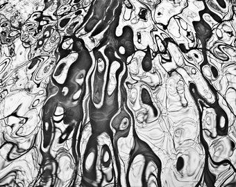 River Abstraction No. 4 -- black and white photograph