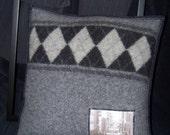 Urban Grey Argyle Pillow