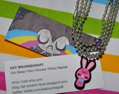 Pink Bunny Charm