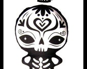 Sugar Skull Toy - Day of the Dead toy - Dia de los Muertos plush- Sugar Skull baby