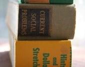 1\/4 books set of 3\/lemon-lime hue