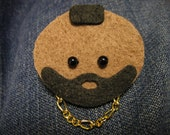Mr. T Doll Face Pin