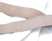 Beige comfort plush waistband elastic, 1 inch wide