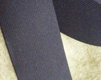 black elastic, 2 inches wide