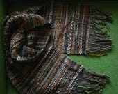 ORANGE BROWN CREAM SCARF unisex