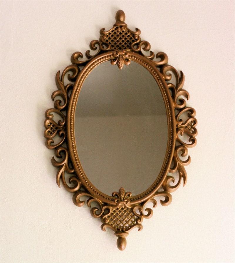 Vintage 70s Large Ornate Framed Mirror