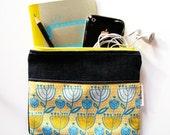 SALE Floral Zipper Pouch
