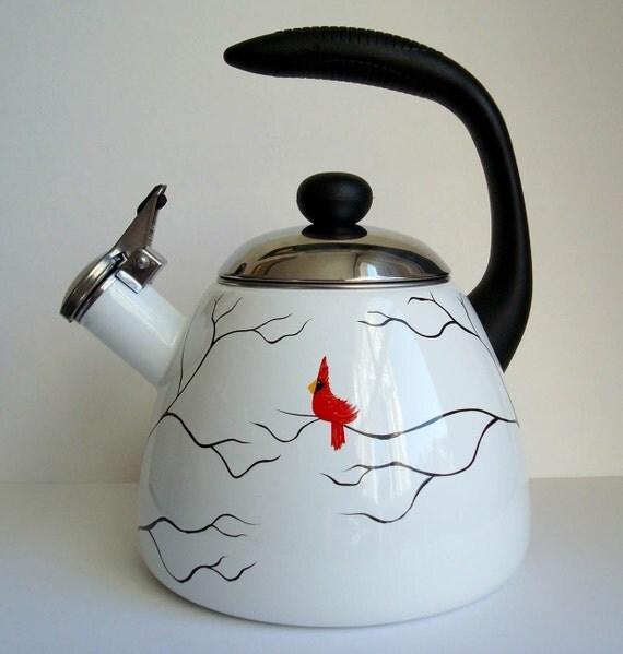 Red Cardinal Tea Kettle