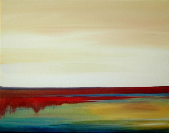 """Original Acrylic Canvas Painting--10x8--""""Open Horizons"""" by Mary Elizabeth Arts--Arriving by Christmas"""
