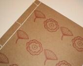 Floral Handbound Journal or Sketchbook