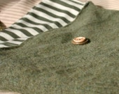 The dark green recycled sweater laptop cozy sock