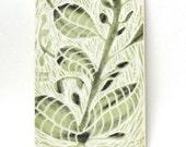 ceramic tile green foliage