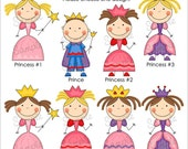 Set of 25 STICK PRINCESS Personalized Cardstock Tags, 8 Designs To Choose From, Gift Tags, Hang Tags, Favor Tags