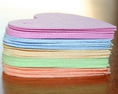 Set of 50 Blank Paper Tags, PASTELS Colors Set