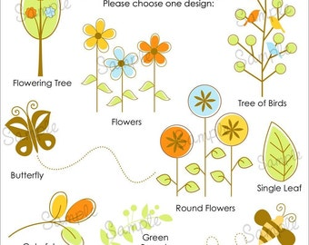 Set of 25 MODERN NATURE Personalized Cardstock Tags, 8 Designs to Choose From, Gift Tags, Hang Tags, Favor Tags