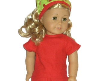 AMERICAN GIRL SHIRT - American Girl Clothes - Apple Red