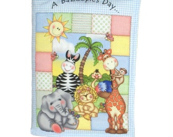 CLOTH BOOK for CHILDREN - Made From Bazooples Fabric - Adorable Animals!