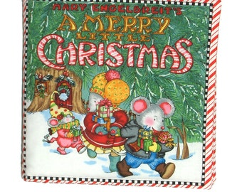 SOFT BABY BOOK - Made from Mary Engelbreit A Merry Little Christmas Fabric