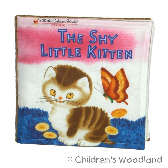 SOFT BABY BOOK - Made from The Shy Little Kitten Fabric