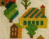 Tiny Village Cross Stitch Pattern and Kit