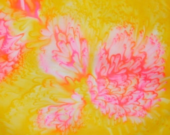Pink Chrysanthemum Silk Scarf
