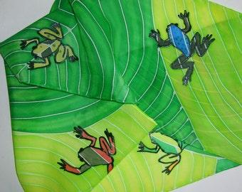 Poison Dart Frog Silk Scarf