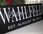 Personalized Last Name Sign, Custom Sign, Family Name Sign Wedding Present, personalalized wedding,  Engagement gift